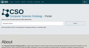 Computer Science Ontology Portal (or simply CSO Portal)