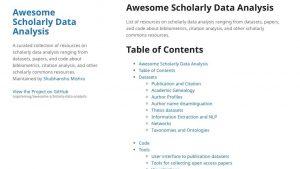 Awesome Scholarly Data Analysis
