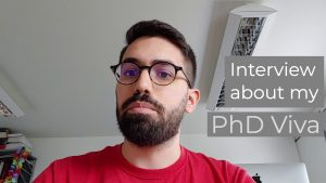 Interview about my PHD Viva