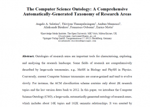 The Computer Science Ontology: A Comprehensive Automatically-Generated Taxonomy of Research Areas