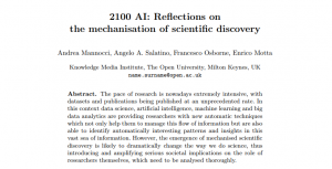 2100 AI: Reflections on the mechanisation of scientific discovery
