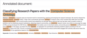 Classifying Research Papers with the Computer Science Ontology
