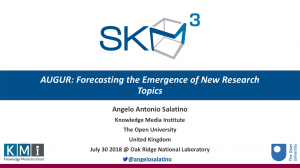 Invited Talk – AUGUR: Forecasting the Emergence of New Research Topics